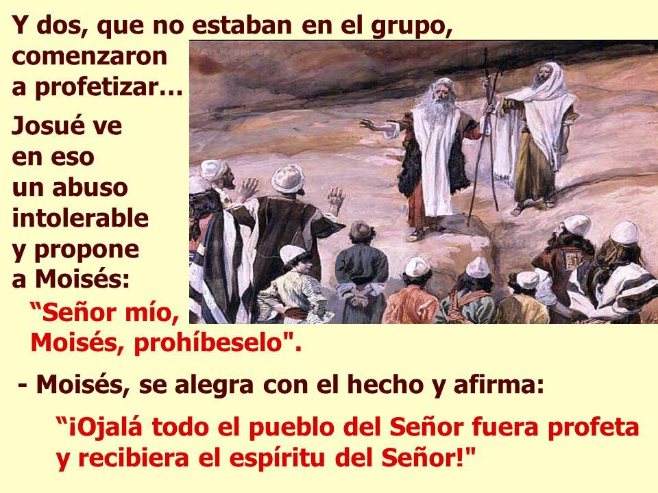 Moisés ya anciano se siente incapaz de continuar dirigiendo el pueblo: