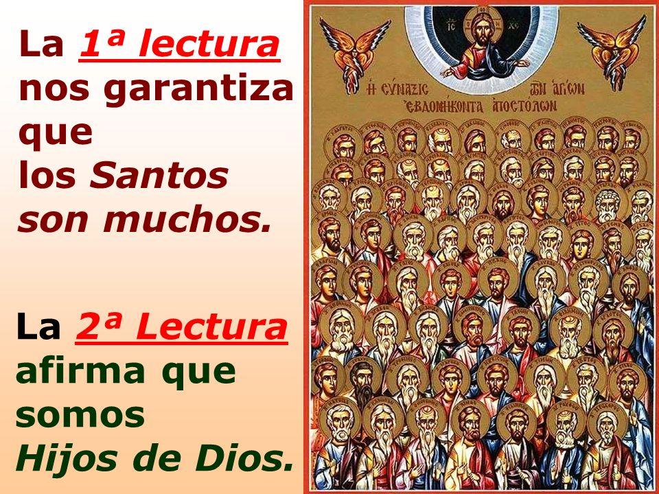 La 1ª lectura nos garantiza que los Santos son muchos. La 2ª Lectura afirma que somos Hijos de Dios.