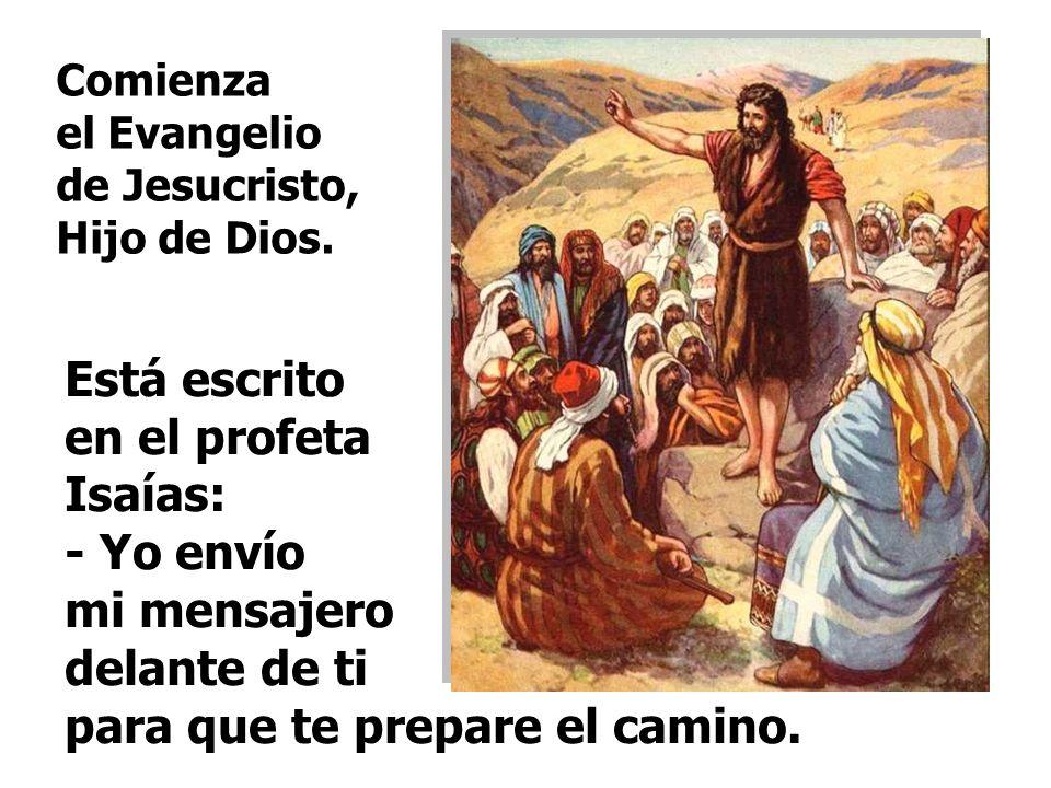 Marcos comienza anunciando la Buena Noticia. En este Evangelio, JUAN BAUTISTA invita a preparar el CAMINO para acoger al MESÍAS.
