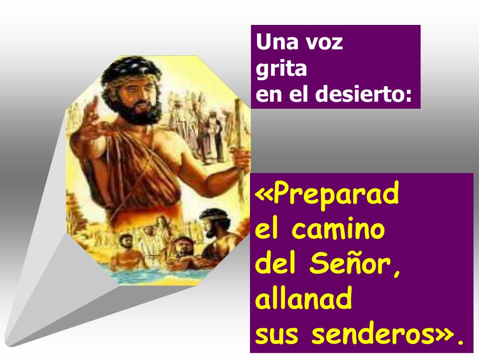 Una voz grita en el desierto: «Preparad el camino del Señor, allanad sus senderos».