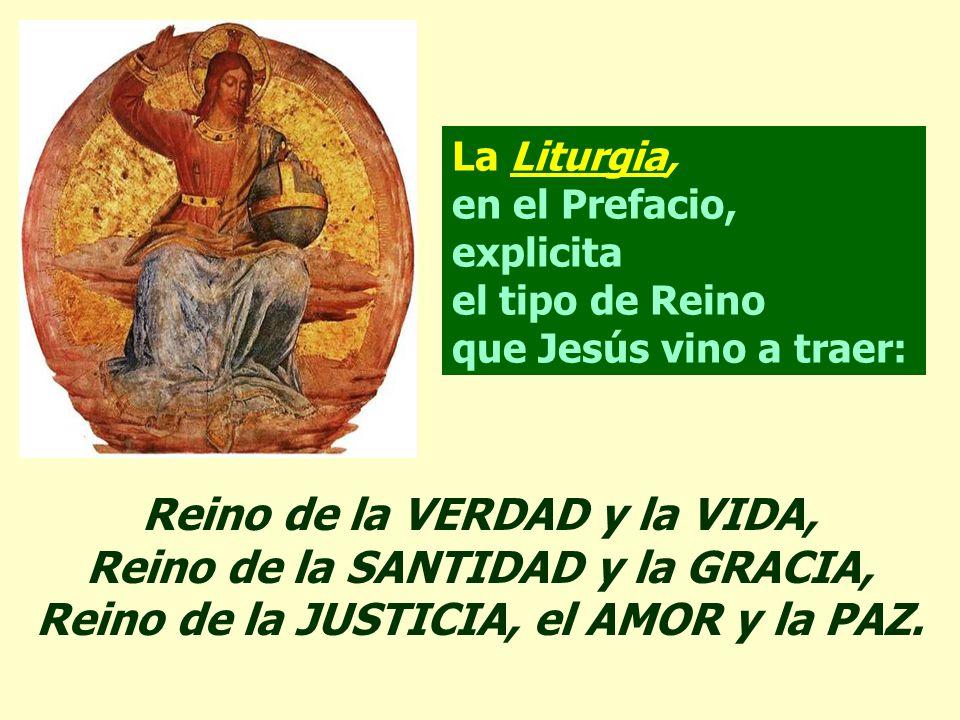 En el Evangelio, Jesús confirma su Realeza. Durante toda la vida pública, Jesús tiene mucho cuidado para no dar una interpretación política a su misió