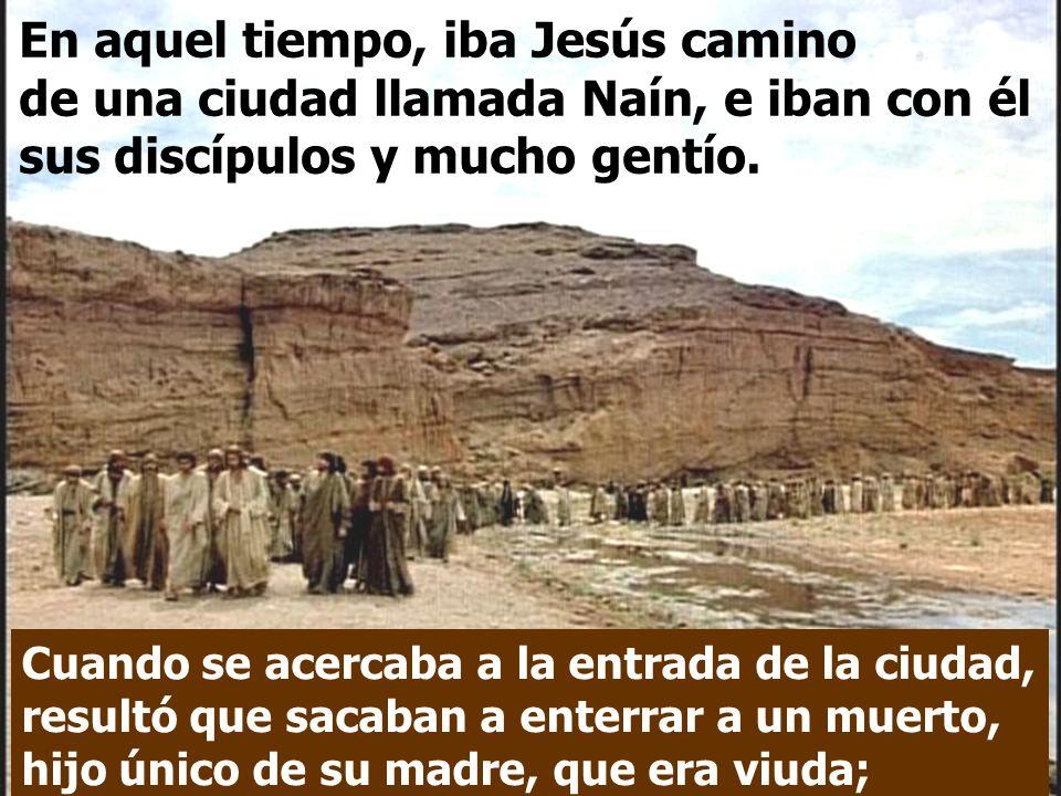 En el Evangelio, tenemos a la Viuda de Naín. Lucas describe un gran acontecimiento humano: el encuentro de la Muerte y de la Vida.