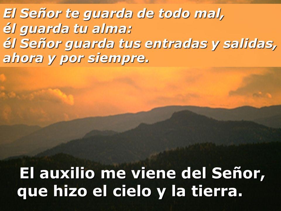 El Señor te guarda a su sombra, está a tu derecha; de día el sol no te hará daño, ni la luna de noche.