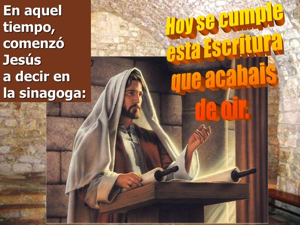 El Evangelio presenta en Nazaret al Profeta JESÚS, rechazado por sus paisanos y hasta por sus propios parientes.