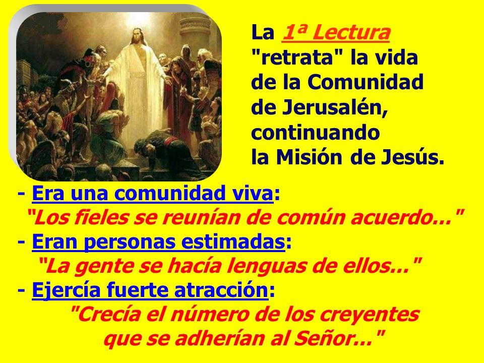 La liturgia nos muestra que la COMUNIDAD CRISTIANA es un espacio privilegiado de