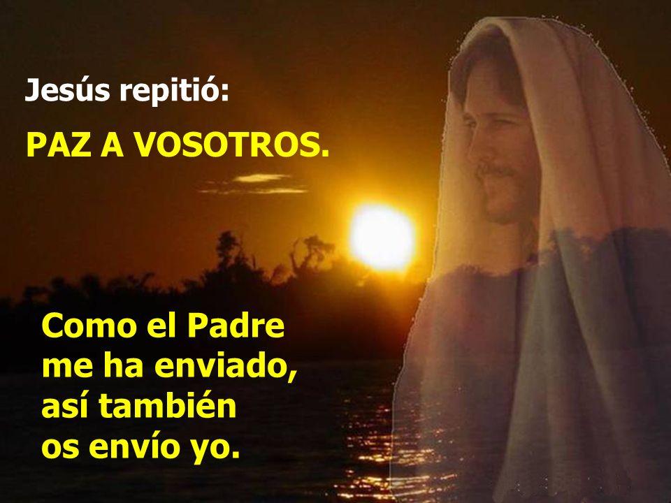 Y, diciendo esto, les enseñó las manos y el costado. Y los discípulos se llenaron de alegría al ver al Señor. Y en esto entró Jesús, se puso en medio