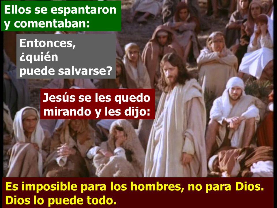 Los discípulos se extrañaron de estas palabras. Hijos, ¡que difícil les es entrar en el reino de Dios a los que ponen su confianza en el dinero! Más f