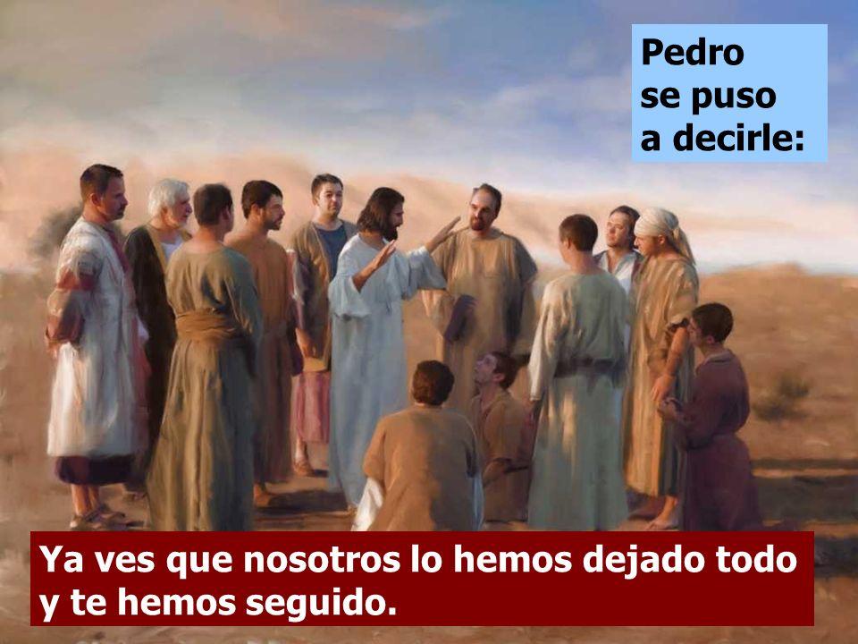 Ellos se espantaron y comentaban: Jesús se les quedo mirando y les dijo: Entonces, ¿quién puede salvarse? Es imposible para los hombres, no para Dios.