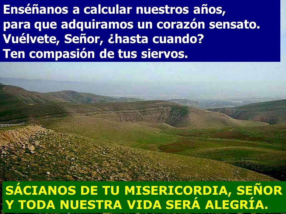 SÁCIANOS DE TU MISERICORDIA, SEÑOR Y TODA NUESTRA VIDA SERÁ ALEGRÍA. Salmo 89