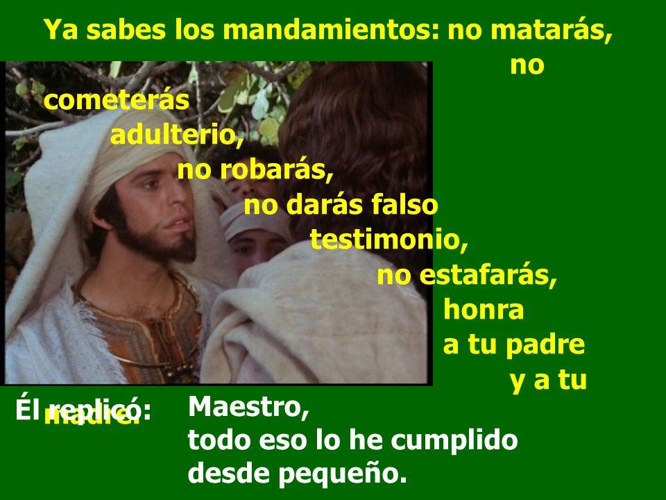 Maestro bueno, ¿qué haré para heredar la vida eterna? En aquel tiempo, cuando salía Jesús al camino, se le acercó uno corriendo, se arrodilló y le pre
