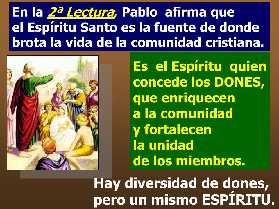 El interés del autor es presentar a la Iglesia como Comunidad, que nace de Jesús, asistida por el Espíritu y llamada a testimoniar el proyecto del Pad