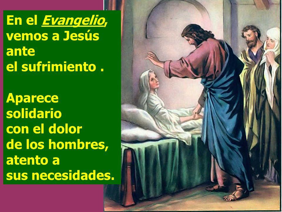En el Evangelio, vemos a Jesús ante el sufrimiento.