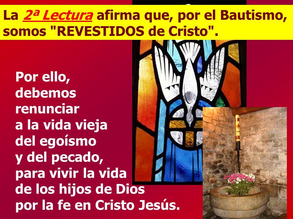 La 2ª Lectura afirma que, por el Bautismo, somos REVESTIDOS de Cristo .