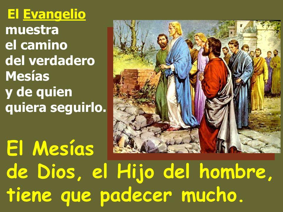 El Evangelio muestra el camino del verdadero Mesías y de quien quiera seguirlo.