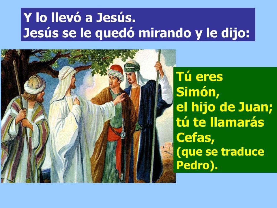Andrés hermano de Simón Pedro era uno de los dos que oyeron a Juan y siguieron a Jesús. Hemos encontrado al Mesías