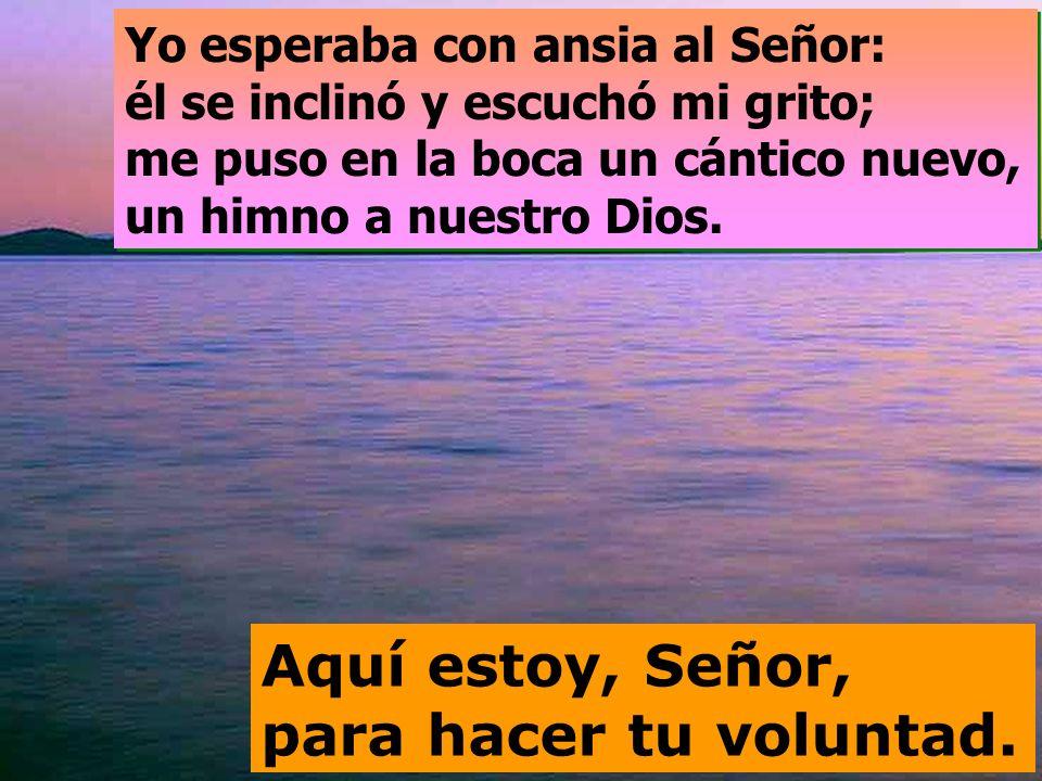 Salmo 39 Aquí estoy, Señor, para hacer tu voluntad.