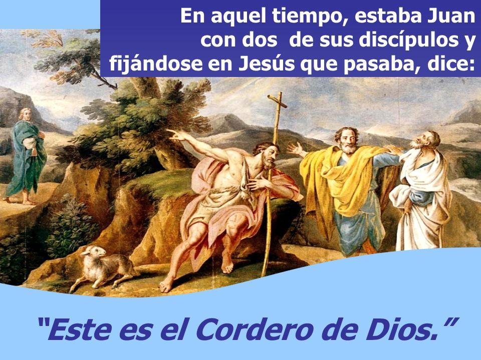 En el Evangelio, tenemos el ENCUENTRO de los PRIMEROS DISCÍPULOS con Jesús. Los discípulos le siguen, pero es Jesús quien inicia el diálogo.