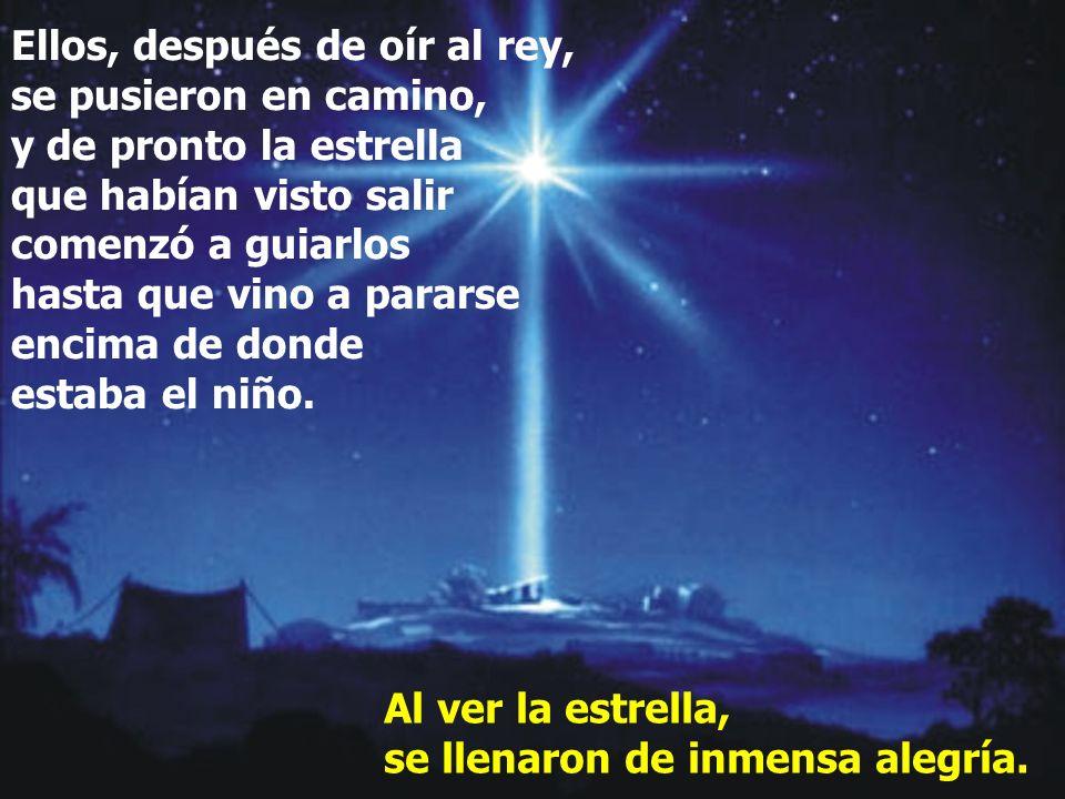 Entonces Herodes llamó en secreto a los magos para que le precisaran el tiempo en que había aparecido la estrella, y los mandó a Belén, diciéndoles: -