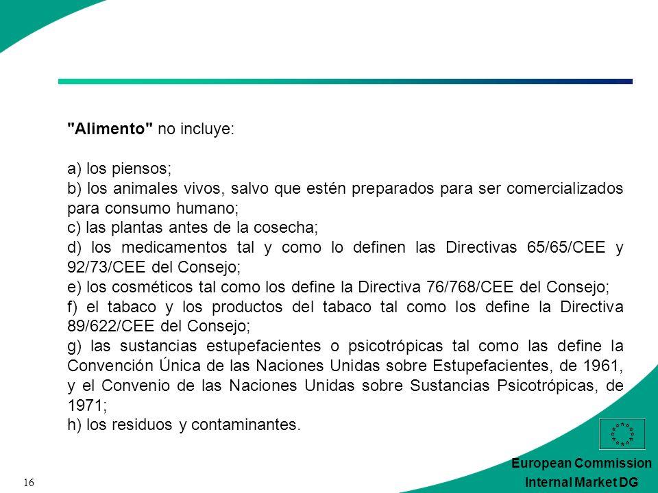 16 European Commission Internal Market DG