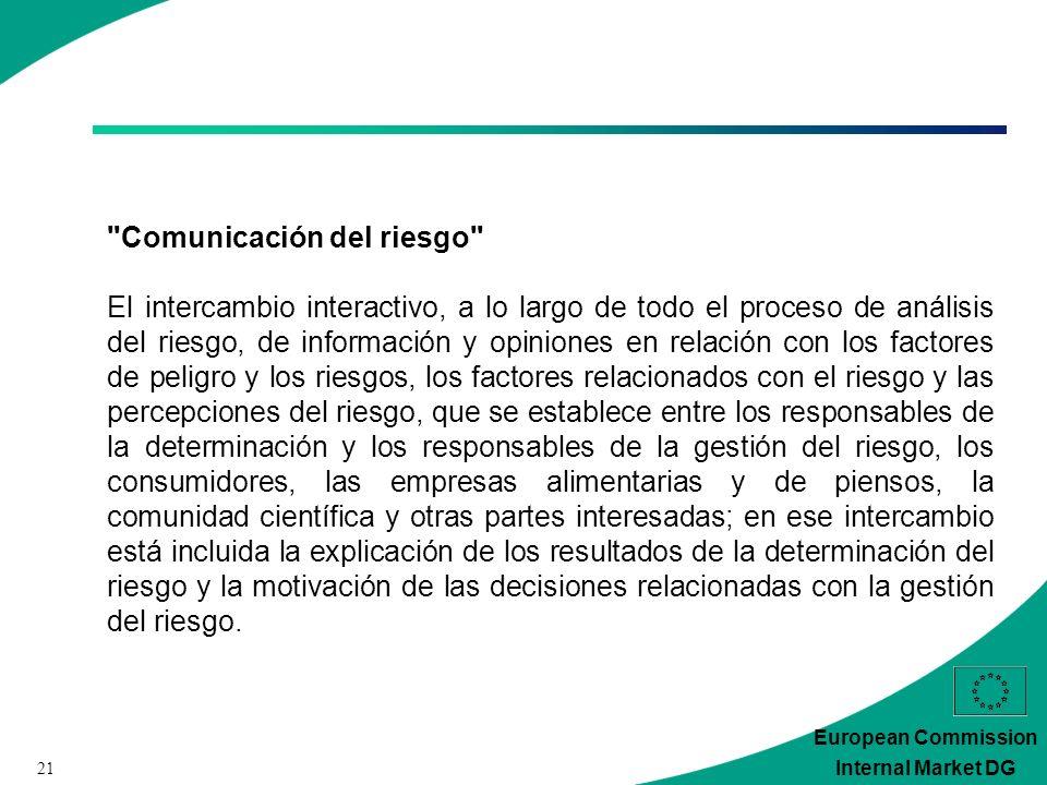 21 European Commission Internal Market DG
