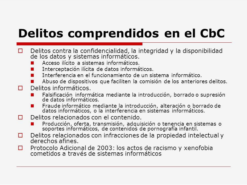 Delitos comprendidos en el CbC Delitos contra la confidencialidad, la integridad y la disponibilidad de los datos y sistemas informáticos. Acceso ilíc