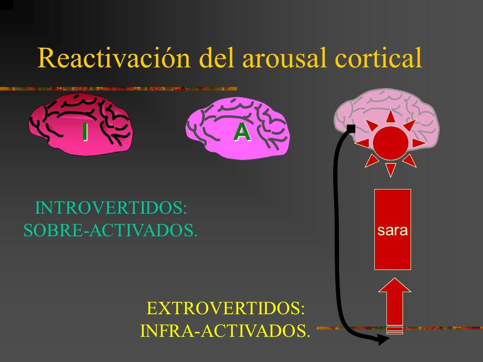 Reactivación del arousal cortical AI sara E INTROVERTIDOS: SOBRE-ACTIVADOS.