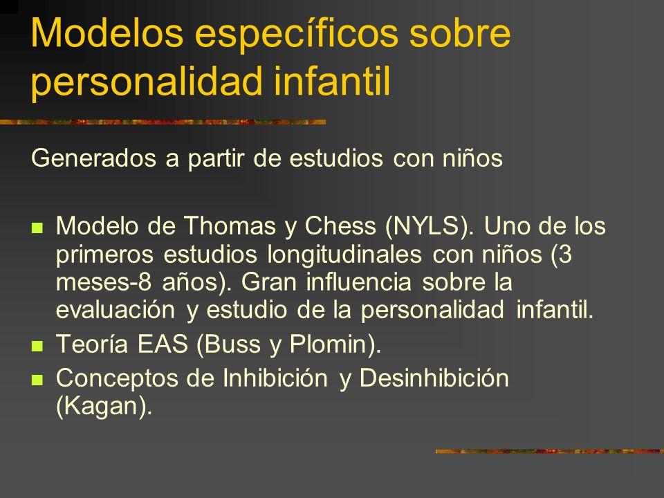 Modelos específicos sobre personalidad infantil Generados a partir de estudios con niños Modelo de Thomas y Chess (NYLS).