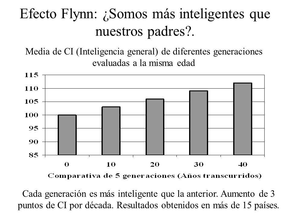 - Aptitudes Vulnerables (p.e. Gf): Disminuyen con la edad - Aptitudes Sostenibles (p.e. Gc): Se mantienen con la edad Desarrollo de la Inteligencia (I