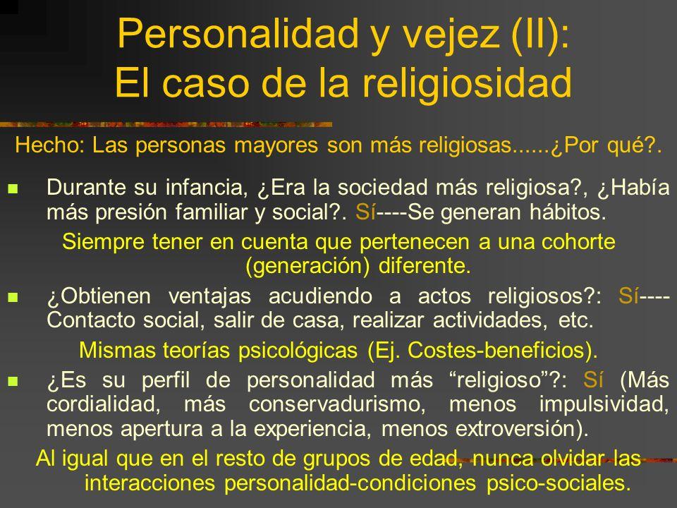 Personalidad y vejez (I): INSTRUMENTOS.¿SIRVEN LOS MISMOS TESTS DE PERSONALIDAD?......