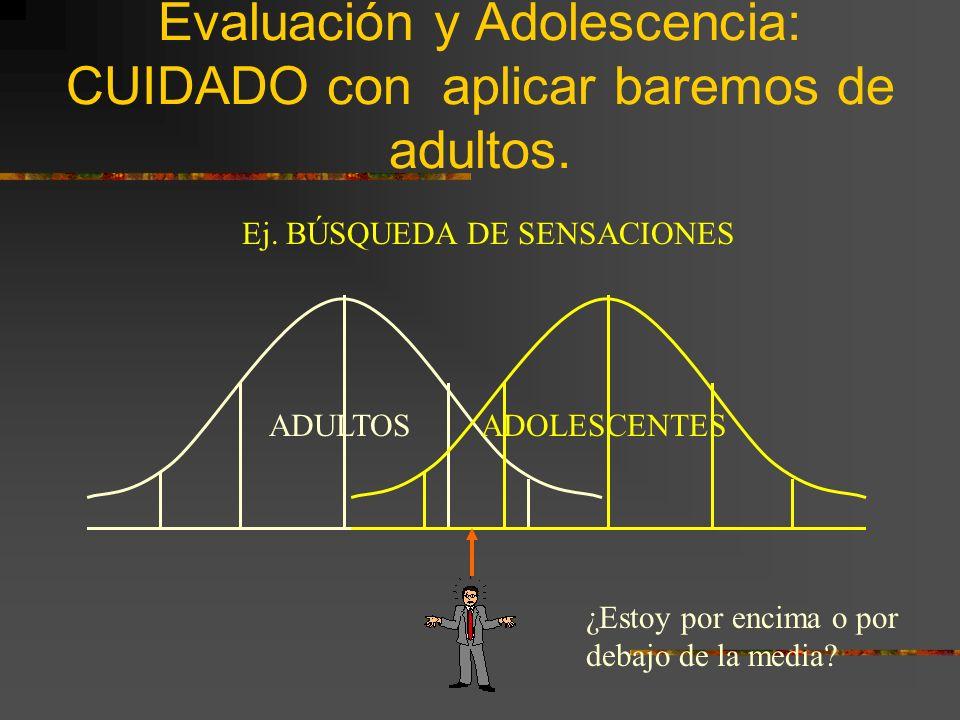 Personalidad y cambio durante la Adolescencia/Época Adulta (II) Personas más maduras tienen una menor tasa de cambio.