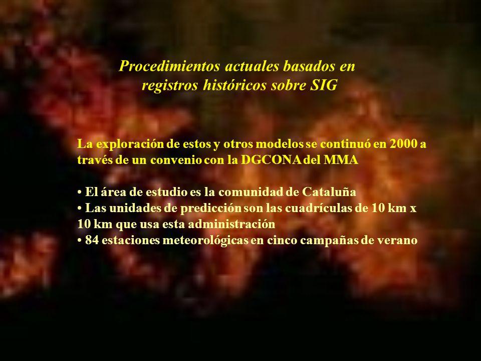 La exploración de estos y otros modelos se continuó en 2000 a través de un convenio con la DGCONA del MMA El área de estudio es la comunidad de Catalu