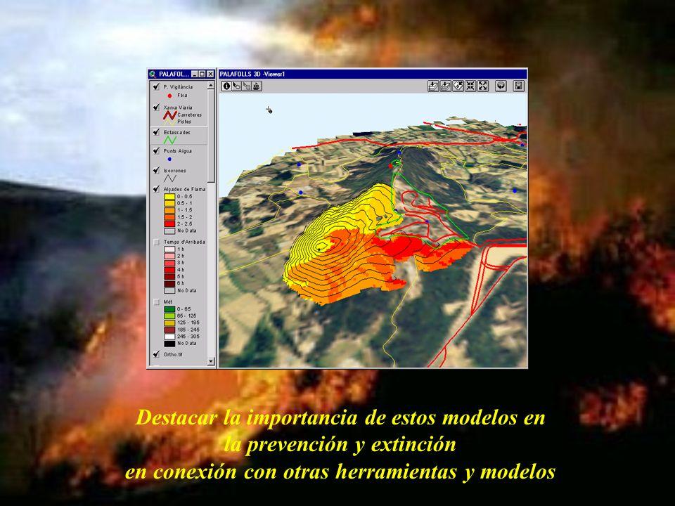 Destacar la importancia de estos modelos en la prevención y extinción en conexión con otras herramientas y modelos