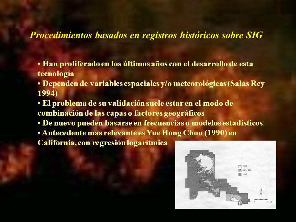 Las necesidades de la planificación diaria y la disponibilidad de los SIG llevan a la convergencia entre planteamientos temporales y espaciales En 1991-93 se inicia un proyecto de modelización de predicción de incendios forestales entre FC y UofA dirigido por Bryan Lee y Paul Woodard, antecedente directo de este proyecto.