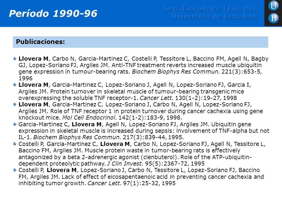 Llovera M, Carbo N, Garcia-Martinez C, Costelli P, Tessitore L, Baccino FM, Agell N, Bagby GJ, Lopez-Soriano FJ, Argiles JM. Anti-TNF treatment revert