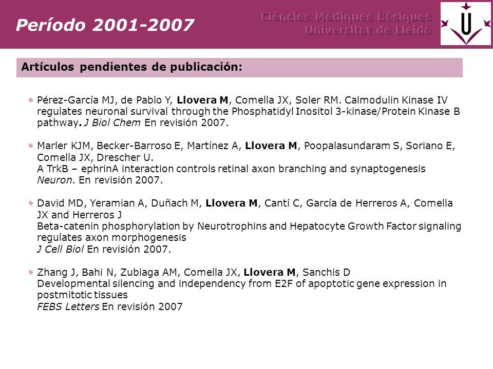 Pérez-García MJ, de Pablo Y, Llovera M, Comella JX, Soler RM.