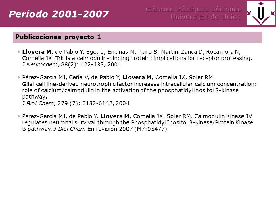 Llovera M, de Pablo Y, Egea J, Encinas M, Peiro S, Martin-Zanca D, Rocamora N, Comella JX.