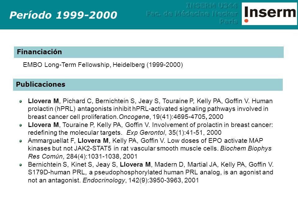 Y785 Shc PLC TrkA Y490 P NGF P P Y785 P SurvivalDifferentiation FRS-2 endosome Rap-1 DAG IP 3 B-Raf C3G PKC ER Ca 2+ Grb-2 SOS Raf-1 Shc Grb-2 Gab1 PI3K Akt MEK1/2 ERK1/2 Ras PDK1 Período 2001-2007 Vías de señalización activadas por Trk