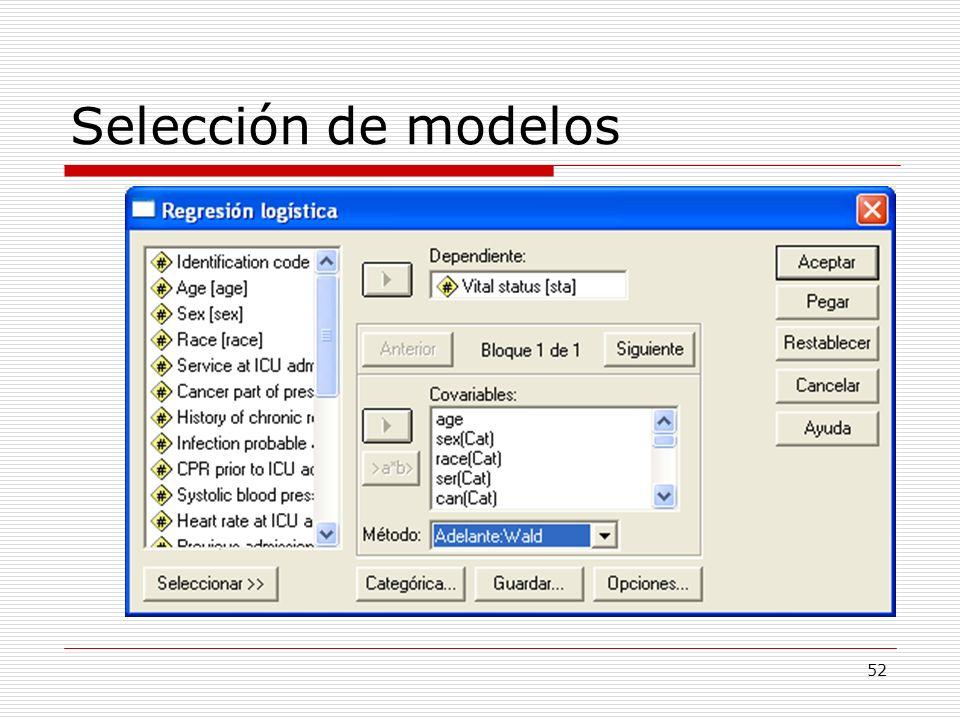 52 Selección de modelos