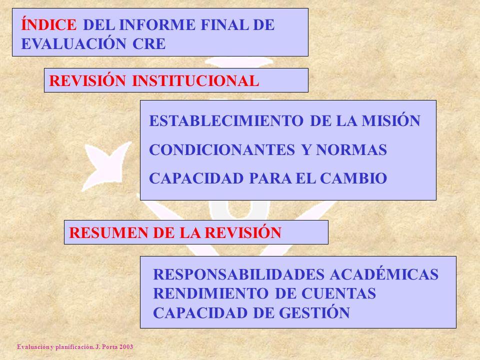 Evaluación y planificación.J.