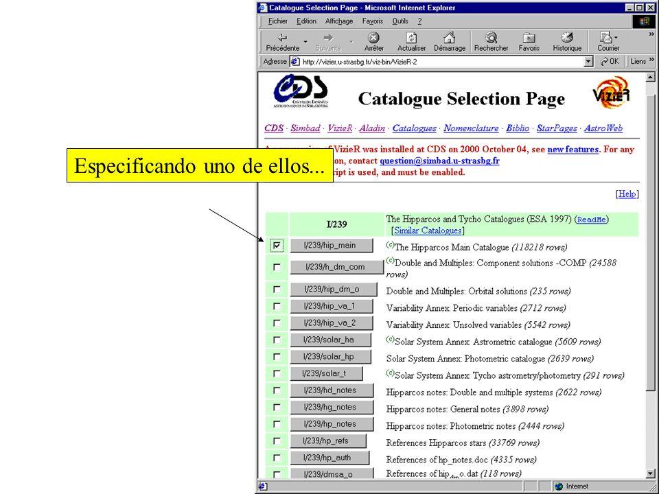 Todos los catalogos y tablas relacionados con el nombre seleccionado { Obteniendo....