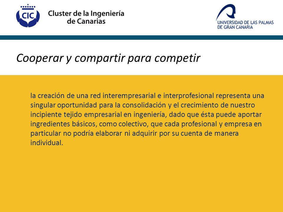 Cooperar y compartir para competir la creación de una red interempresarial e interprofesional representa una singular oportunidad para la consolidació