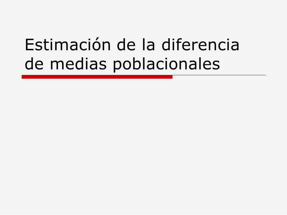 Objetivos Disponemos de muestras independientes de dos poblaciones.