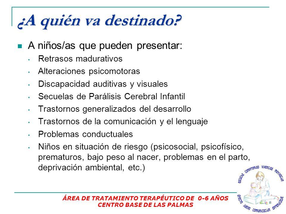 ¿Qué servicios prestamos? 1.Valoración 1.Valoración, Diagnóstico y Orientación. 2.Tratamiento 2.Tratamiento: Atención Temprana. Psicomotricidad terapé