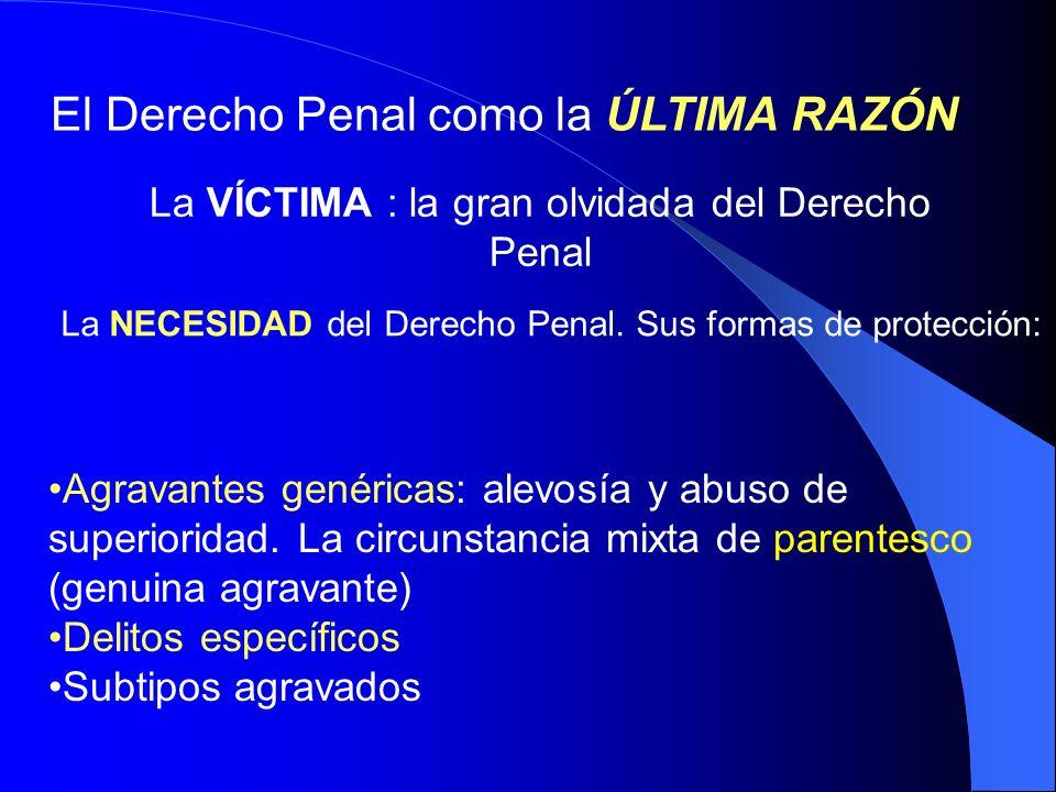 Los TIPOS PENALES Protección de la integridad física, psíquica y moral Protección de la libertad deambulatoria del menor Protección de la libertad e indemnidad sexual del menor Otros tipos penales