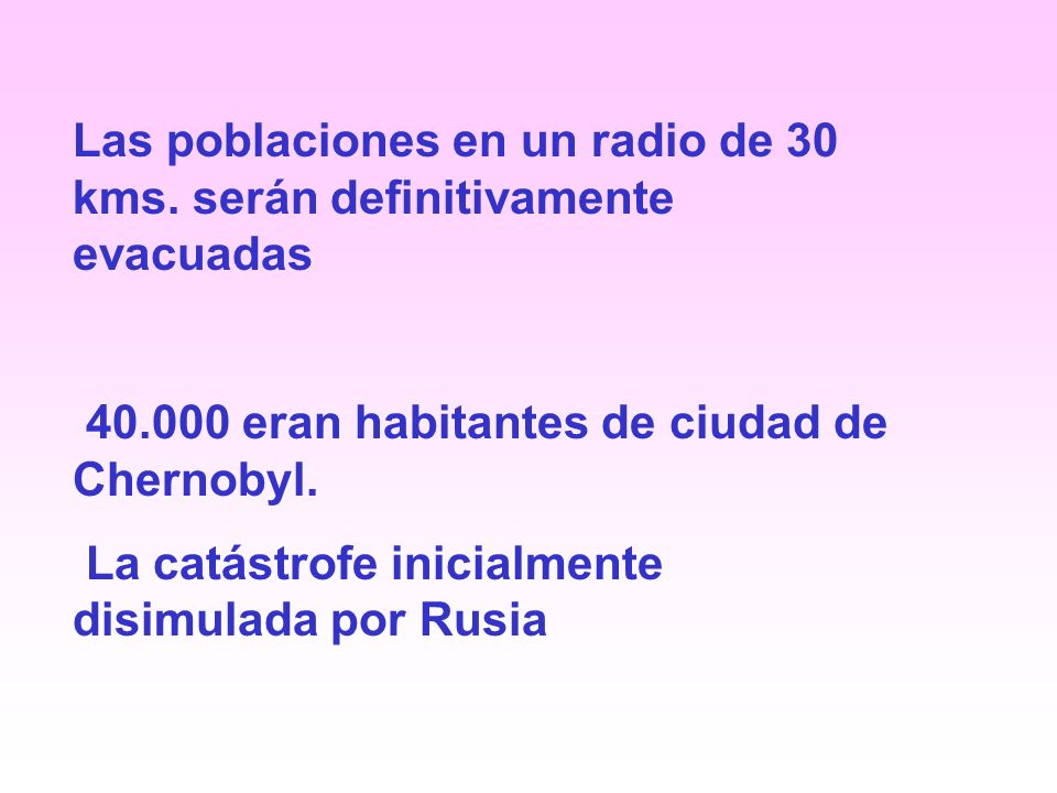 Las poblaciones en un radio de 30 kms.