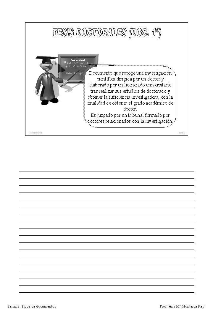 Prof. Ana Mª Monterde ReyTema 2. Tipos de documentos