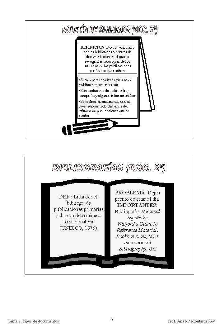 Prof. Ana Mª Monterde ReyTema 2. Tipos de documentos 5