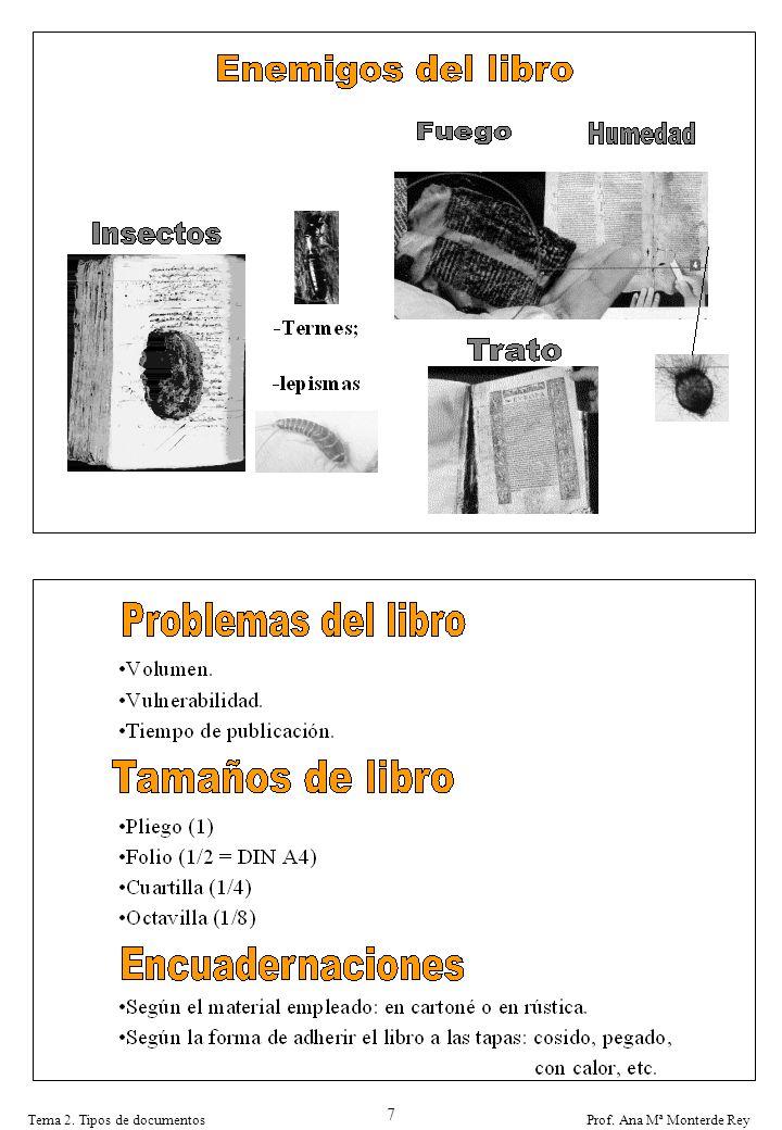 Prof. Ana Mª Monterde ReyTema 2. Tipos de documentos 7