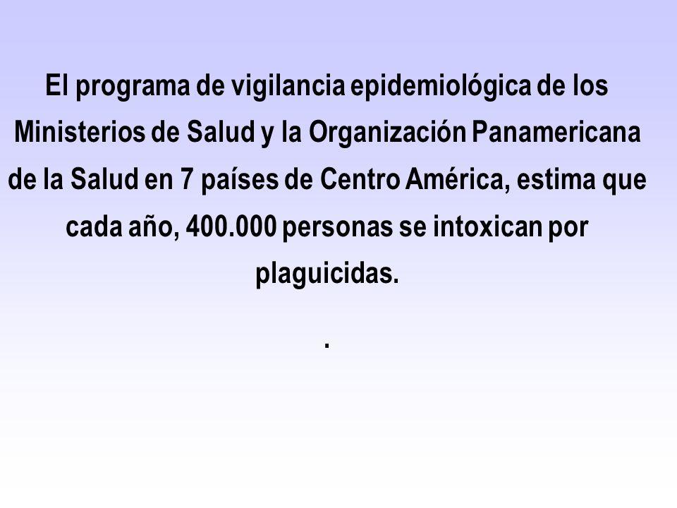 El programa de vigilancia epidemiológica de los Ministerios de Salud y la Organización Panamericana de la Salud en 7 países de Centro América, estima