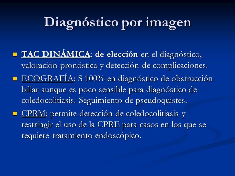 Diagnóstico por imagen TAC DINÁMICA: de elección en el diagnóstico, valoración pronóstica y detección de complicaciones. TAC DINÁMICA: de elección en